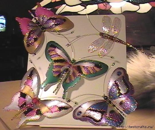 Бабочки из пластиковой бутылки (1) (541x453, 152Kb)