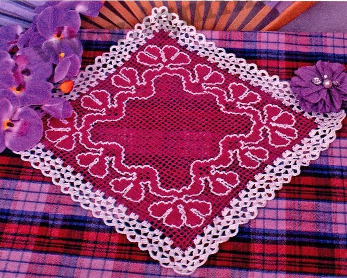 Двухцветное вязание филейное вязание крючком