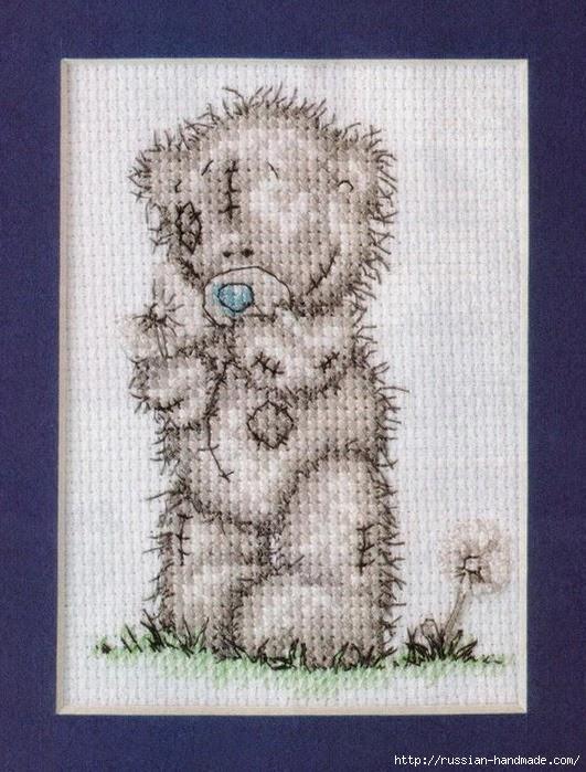 Плюшевый мишка. Схемы вышивки крестиком (5) (531x699, 267Kb)