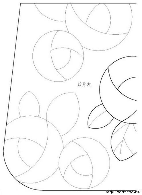 Пэчворк. Сумочка и косметичка с розочками (1) (495x676, 85Kb)