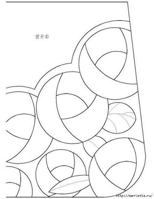 Пэчворк. Сумочка и косметичка с розочками (4) (512x662, 104Kb)