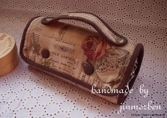Шитье. Интересный вариант дорожной сумочки-косметички (1) (588x415, 164Kb)