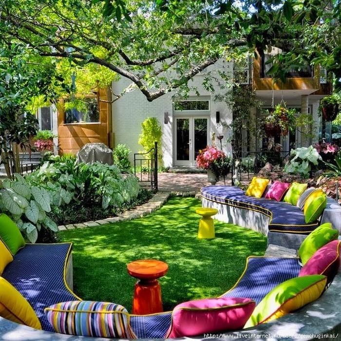 A Beautiful Backyard Full of Color in every way! Fun!!! (700x700, 490Kb)