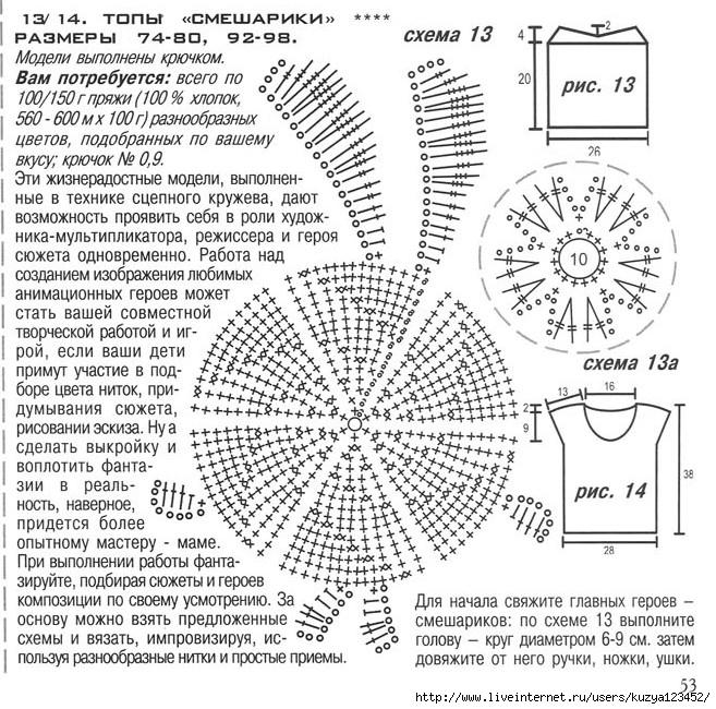Крош схема для вязания