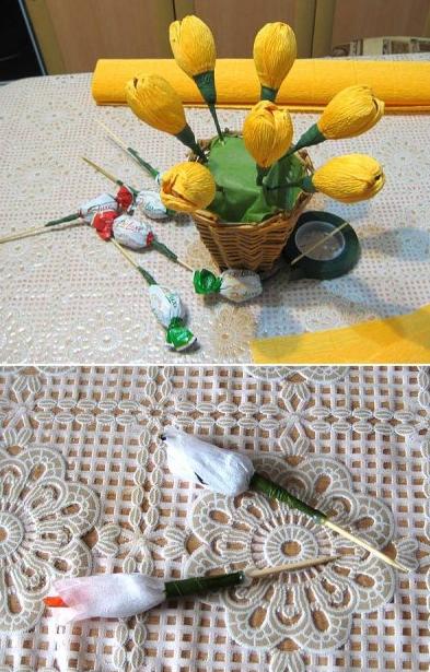 цветы из гофрированной бумаги (3) (393x615, 472Kb)