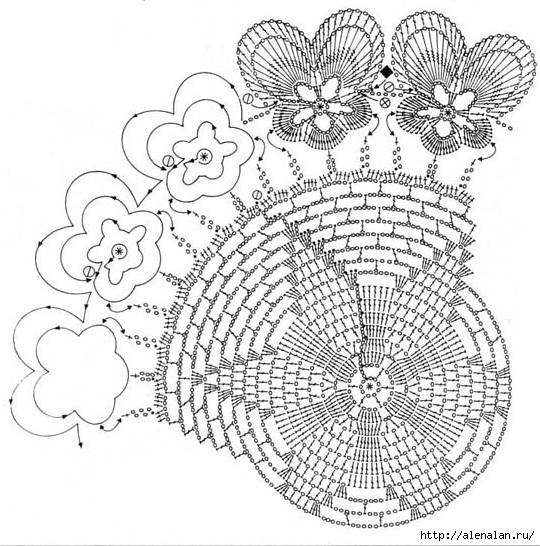 салфетка виола2 (540x546, 229Kb)