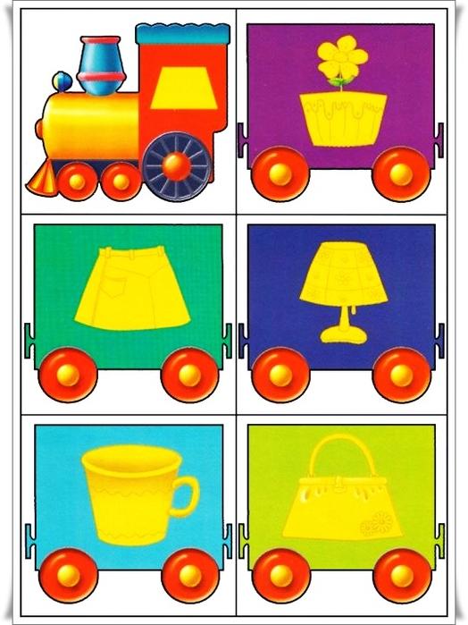 Дидактические игры для детей 3-4 лет в детском на размер предмета