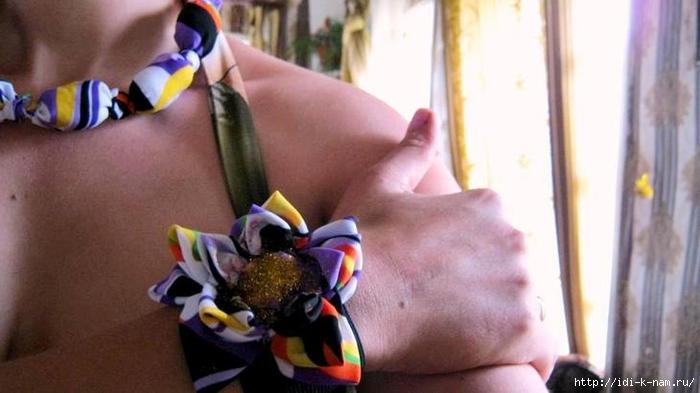 как сделать бусы из ткани фото мастер класс, как сделать тканевые бусы, бусы бижутерия из остатков ткани обрезков, как сделать бусы бижутерию своими руками