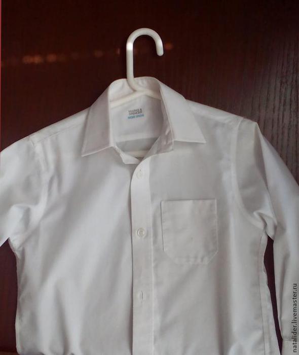 Маки на рубашке. Отличная идея росписи воротника (1) (590x700, 194Kb)