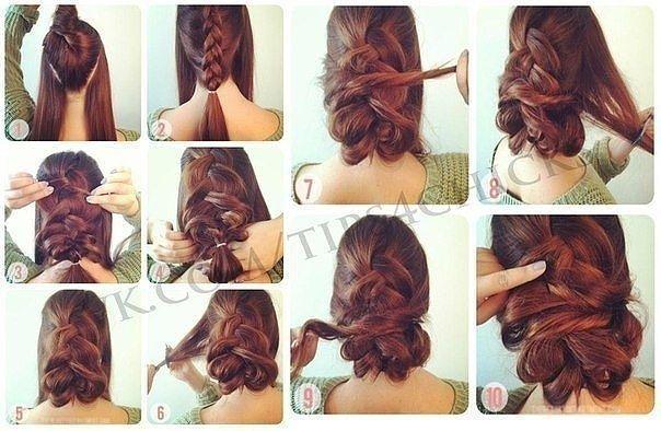 Как сделать прическу на средние волосы мастер класс