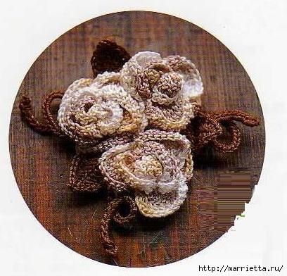 Маленький букетик цветов крючком (1) (408x392, 142Kb)