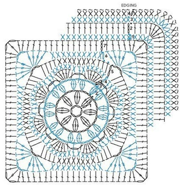 КВАДАТ КРЮЧКОМ СХЕМА (633x650,