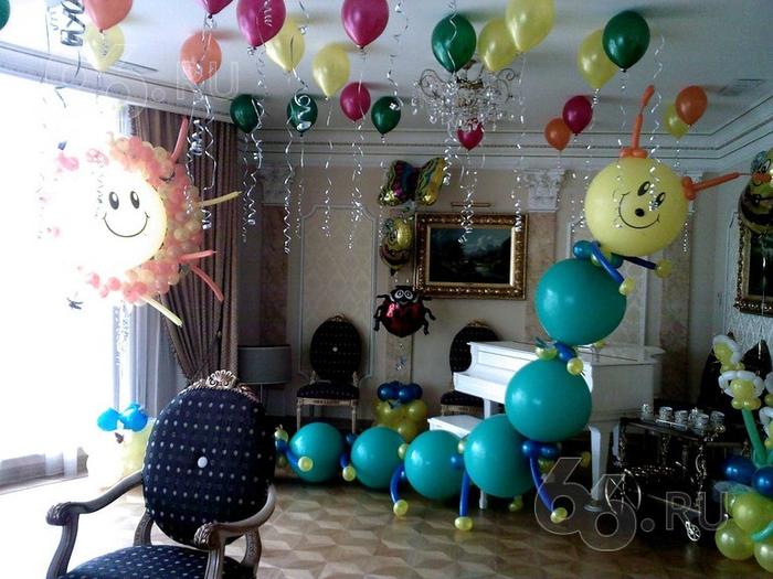 Как украсить шарами праздник 148
