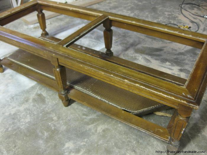 Декорируем сами мебель. Шикарное преображение журнального столика (1) (700x525, 290Kb)