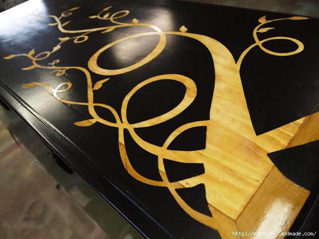 Декорируем сами мебель. Шикарное преображение журнального столика (7) (640x480, 175Kb)