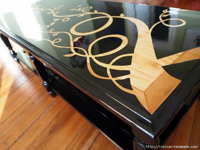 Декорируем сами мебель. Шикарное преображение журнального столика (10) (640x480, 182Kb)
