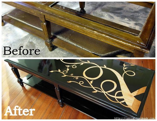 Декорируем сами мебель. Шикарное преображение журнального столика (12) (640x494, 264Kb)