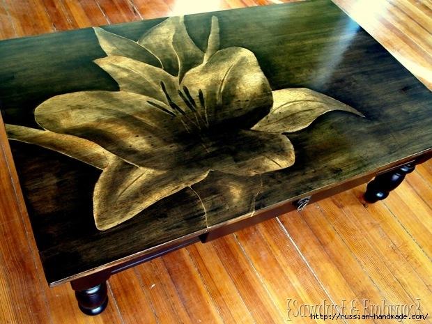 Три варианта переделки мебели. Декорирование журнального столика (2) (620x465, 231Kb)