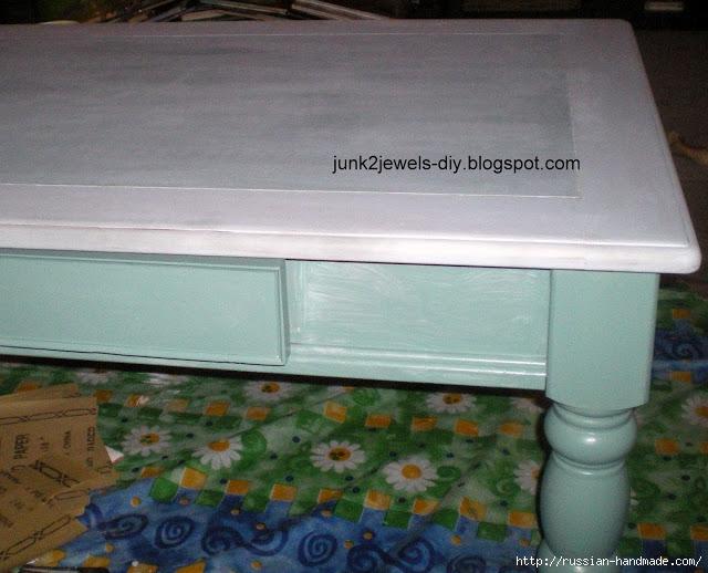 Три варианта переделки мебели. Декорирование журнального столика (12) (640x518, 222Kb)