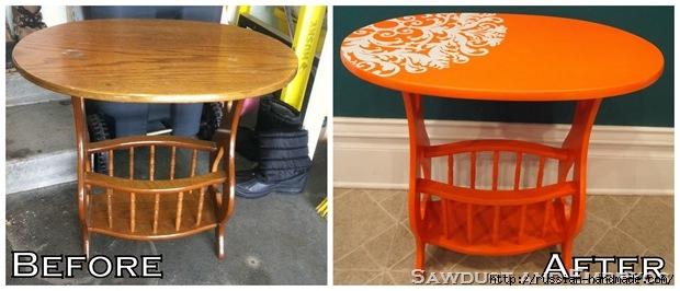 Три варианта переделки мебели. Декорирование журнального столика (24) (620x266, 121Kb)