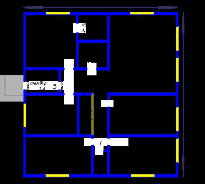 проект одноэтажного дома 9на 12 с четырьмя спальнями Норд можно