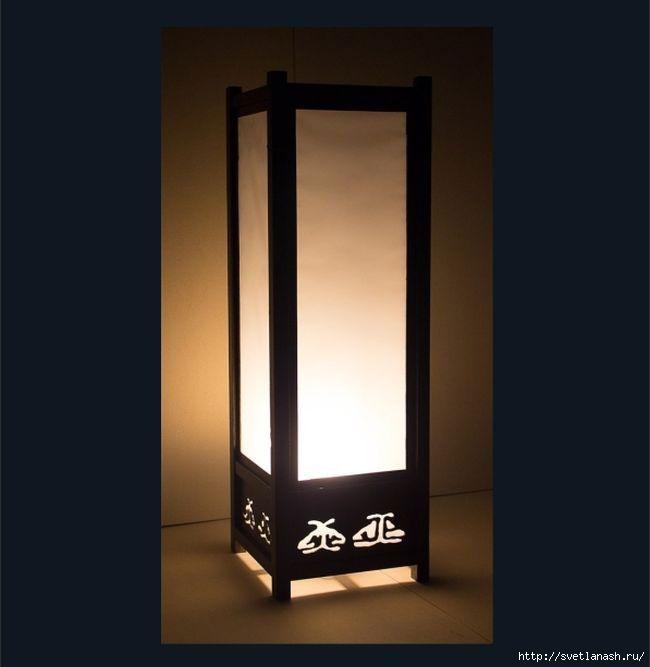 Светильник японский стиль своими руками