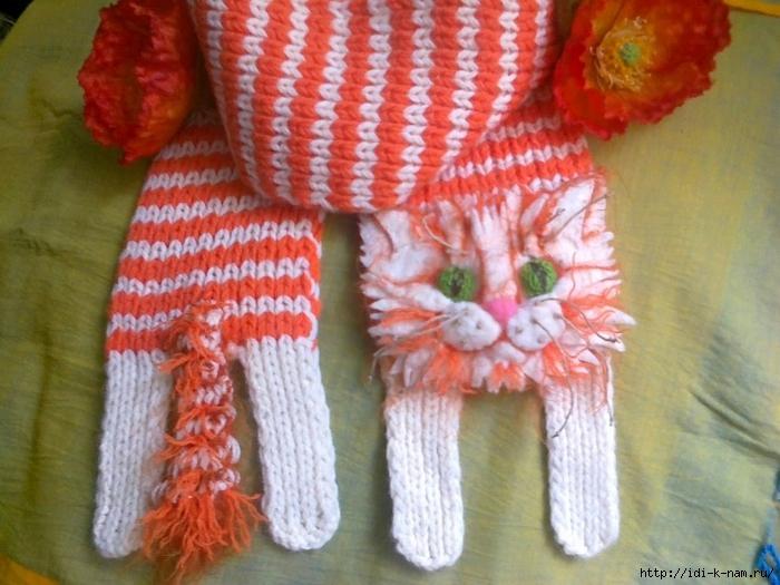 как связать шарфик в виде котика, схема вязания шарфика в виде котика, как связать котошарфик, схема вязания котошарфика, Котошарфик Хьюго Пьюго,