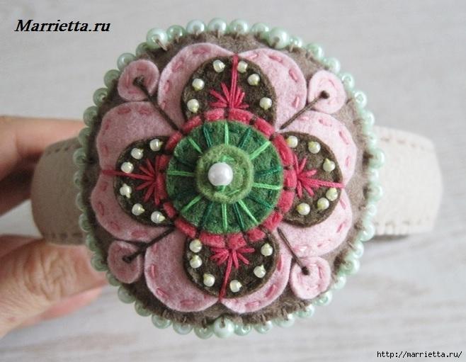 Ободок для девочки с украшением из фетра (2) (658x511, 188Kb)