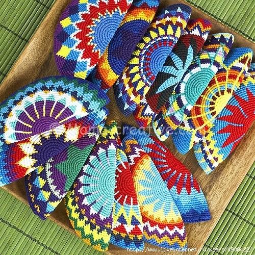 или мозаичное вязание.