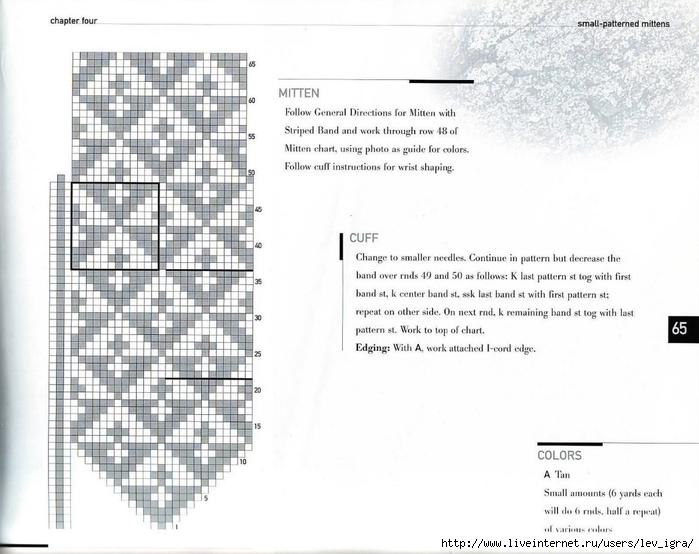 Рисунки для вязания спицами для варежек спицами 41