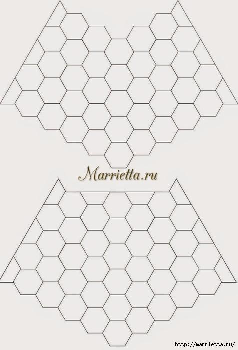 Зимнее пончо из шестиугольных мотивов крючком (2) (476x700, 125Kb)