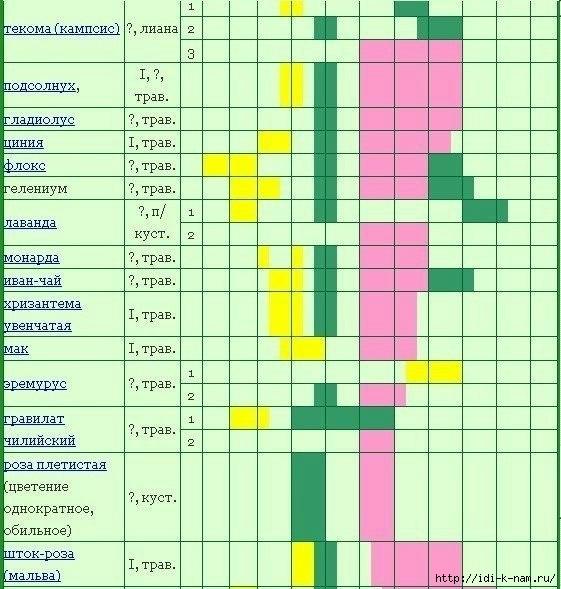 сроки цветения растений для аллергиков, сроки цветения растений Хьюго Пьюго, календарь сроков цветения растений, календарь по срокам цветения растений,