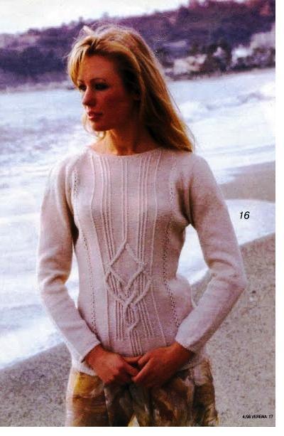 белый пуловер (400x613, 176Kb)
