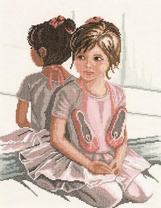 Вышивка балерина девочка