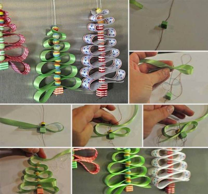 Creative-Ideas-DIY-Beads-And-Ribbon-Christmas-Tree (700x655, 386Kb)