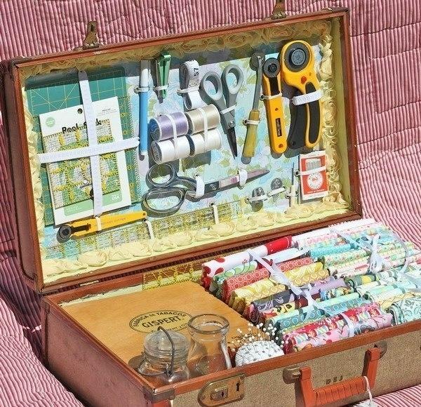 Органайзер для рукодельницы из старого чемодана6 (600x580, 328Kb)