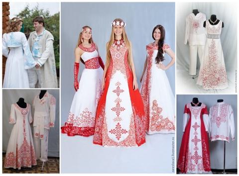 Платье славянское своими руками