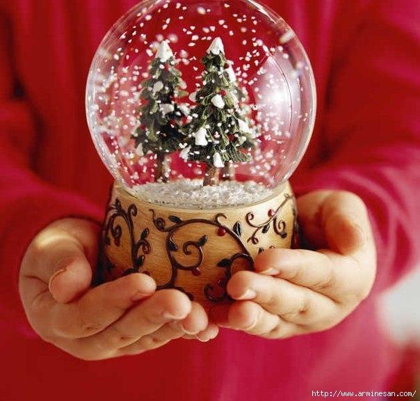 Новогодние стеклянные шары своими руками
