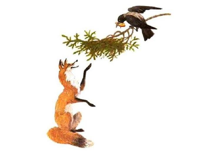 Лисица и ворона (700x525, 19Kb)