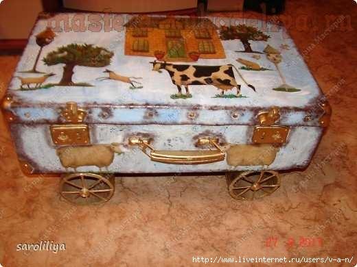 Как сделать из старых чемоданов своими руками