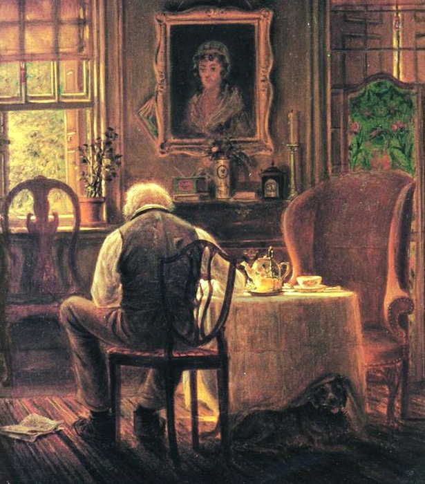 62 Edward Lamson Henry (American Painter, 1841-1919) The Widower 1873  РЅСЂСЋСЋСЋ09 (615x700, 488Kb)