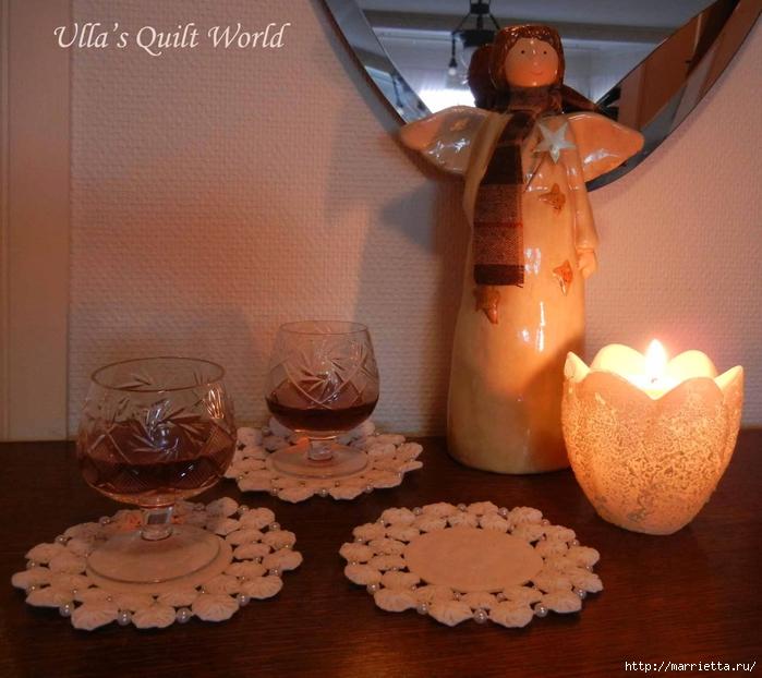 Панно с елочкой и салфетки из цветочков ЙО-ЙО (2) (700x622, 290Kb)
