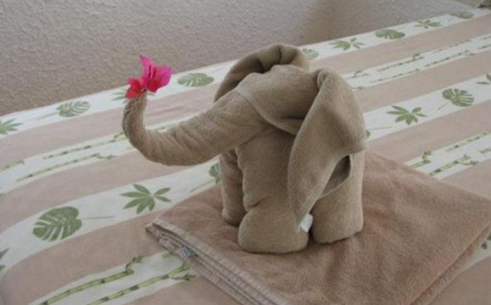 Звери из полотенца