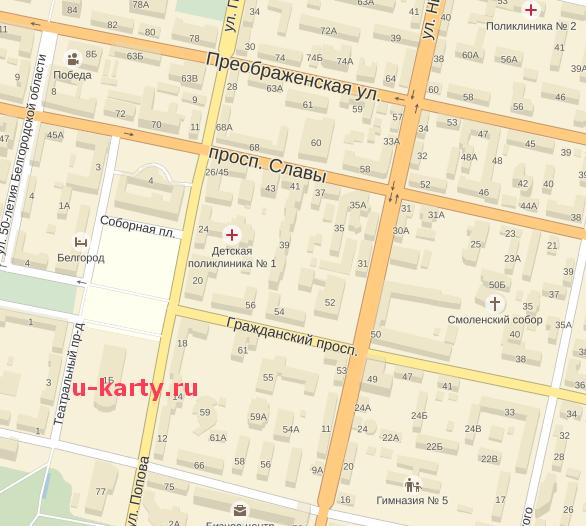 Карта Г Белгорода С Улицами