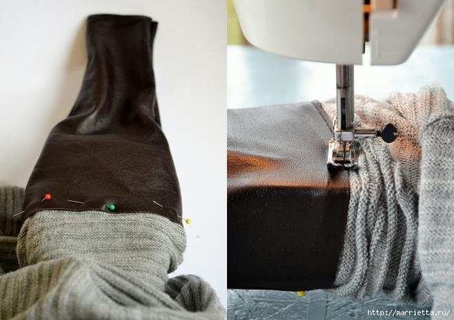 Переделка одежды. Замена рукавов пуловера (3) (660x466, 128Kb)