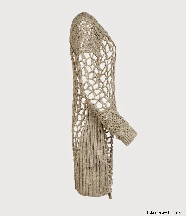 Стильный жакет и платье крючком и спицами (3) (602x700, 116Kb)
