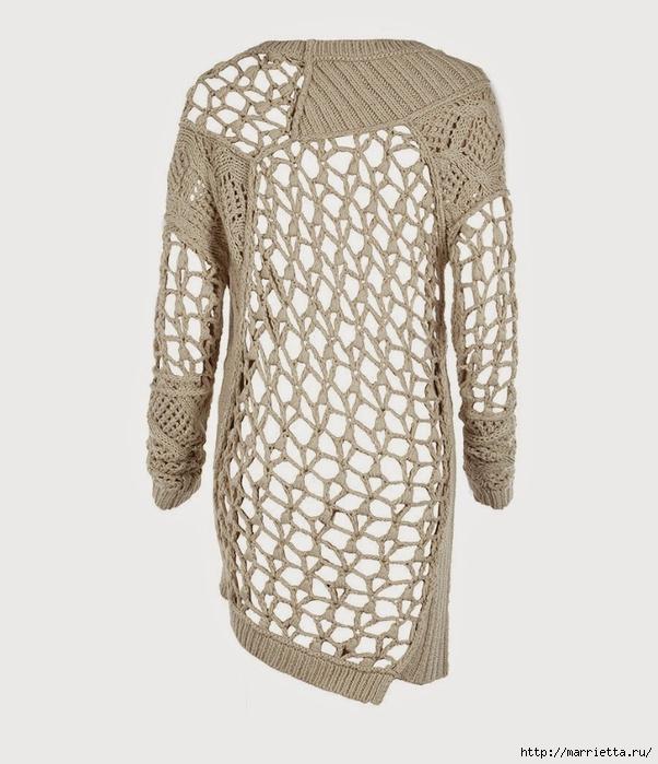 Стильный жакет и платье крючком и спицами (4) (602x700, 214Kb)