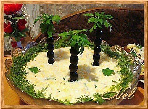 Оформление салатов фото рецепты