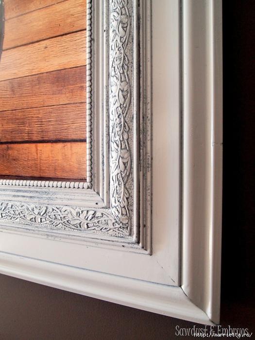 Рамка для зеркала из потолочного плинтуса своими руками
