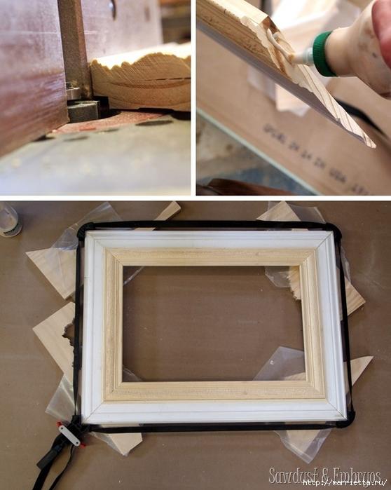 Рамка для фото своими руками из плинтусов инструкция 76